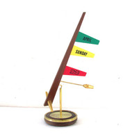 Weighted Perpetual Desk Calendar with flags