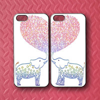 Elephants,Best Friends in Pair,iphone 5S case,iphone 5C case,iphone 5 case,iphone 4 case,ipod 4 case,ipod 5 case,ipod case,Blackberry Z10
