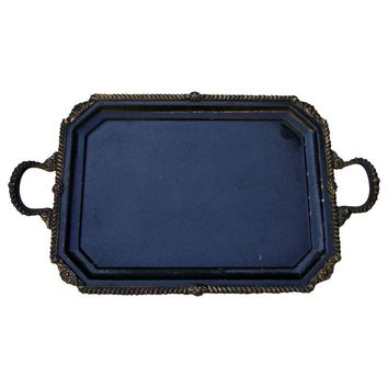 Pre-owned Antique French Victorian Bronze Copper Tray