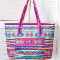 Aztec Insulated Cooler Tote Bag