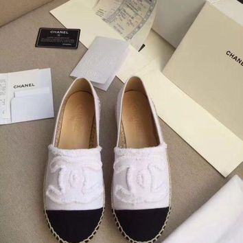 DCCKT3L Chanel hemp bottom fisherman shoes