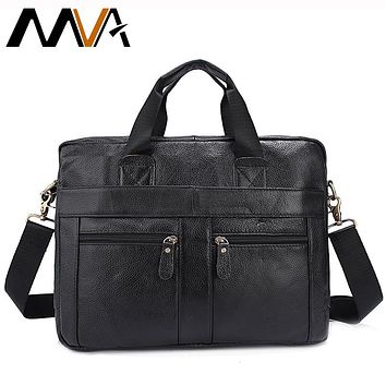 Men's Shoulder Bag Genuine Leather Crossbody Bags For Man Messenger Leather Laptop Bag Male Zipper Casual Totes Bags