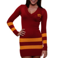USC Trojans Ladies Sweater Dress - Cardinal