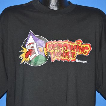 90s Screaming House Skateboards Logo Dave Leamon t-shirt Extra Large
