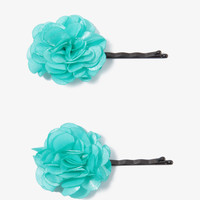 Satin Rosette Hair Pin Set