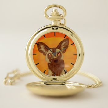 African Wild Dog Pocket Watch
