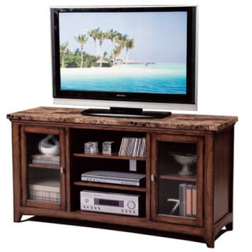 Comtemporary Brown Entertainment Stand   Thurner Media Chest   American Freight