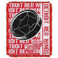 Detroit Red Wings NHL Triple Woven Jacquard Throw (Double Play Series) (48x60)