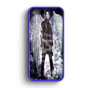 Supernatural Castiel With Wings  iPhone 5 Case iPhone 5s Case iPhone 5c Case