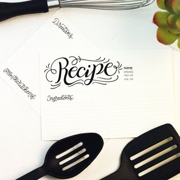 Recipe card set - Recipe lettered - 10 double sided cards
