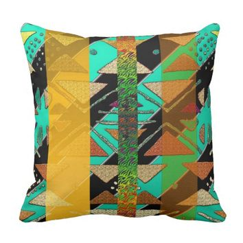 Abstract African Pattern Throw Pillow