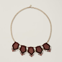 Maroon Pentagon Necklace
