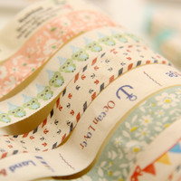 LM306 Deco Masking Cute Kawaii Glitter Christmas Canvas Decorative Adhesive Washi Tape Diy Set Washy Wash Japanese Scotch