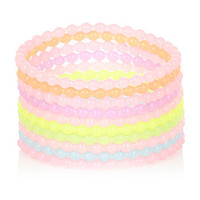 River Island Girls pastel jelly bracelets pack