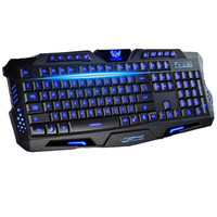 Best English Version Tri-color LED Backlight Flyingcolors Mechanical Touch Gaming Advanced Keyboard Game Keyboard for PC Laptop