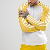 adidas Originals adicolor Longsleeve Top In Yellow CW1230 at asos.com