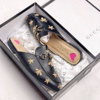 GUCCI Baotou flat bottom sandals