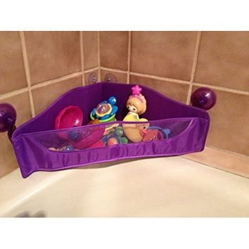 BULA BABY Corner Bath Toy Organizer - 3-Sided Design Allows Easy Access