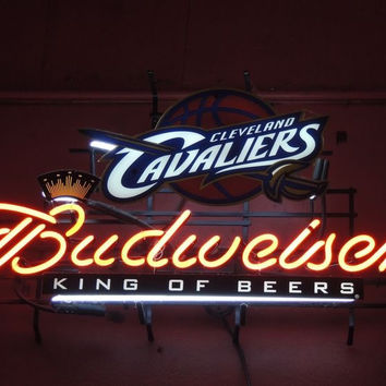 Budweiser Cleveland Cavaliers Neon Sign NBA Teams Neon Light