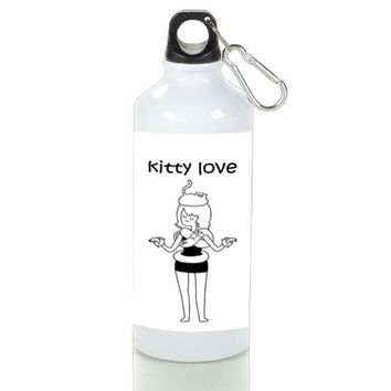 Gift Sport Bottles | Girl Kitty Lovers Aluminum Sport Bottles