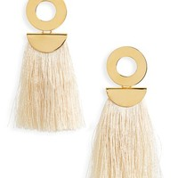Lizzie Fortunato Go-Go Crater Tassel Drop Earrings | Nordstrom