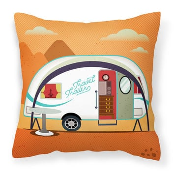 Greatest Adventure New Camper Fabric Decorative Pillow BB5480PW1818