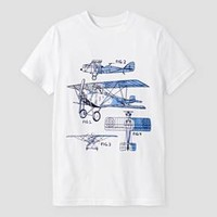 Boys' Airplane Graphic Short Sleeve T-Shirt - Cat & Jack™ White