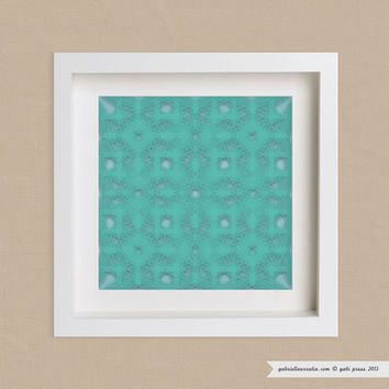 Art Print 12 x 12  Rayos by gabipress on Etsy