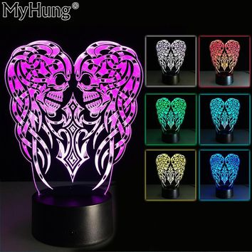 3D Festival Party Decoration lava Lamp 5V Halloween Pumpkin skull LED Mood Night light Flashing Lighting Child & Friend Gifts