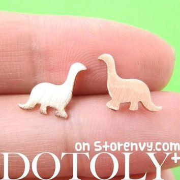 Classic Dinosaur Shaped Stud Earrings in Copper | ALLERGY FREE