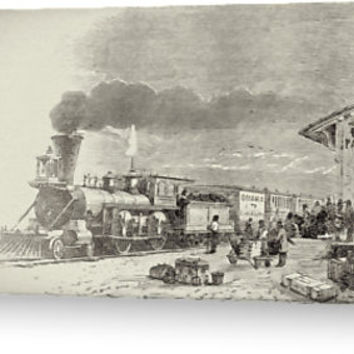 'Union Pacific Railroad Station' Greeting Card by Theresa Campbell