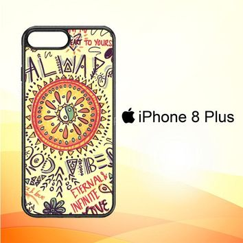American Hippie Psychedelic L1340 iPhone 8 Plus Case