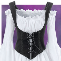 Black Twill Bodice - Women's Clothing & Symbolic Jewelry – Sexy, Fantasy, Romantic Fashions