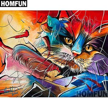 5D Diamond Painting Abstract Cat Face Kit