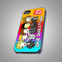 One Direction 1D  Animation - AF002 - Design on Hard Cover - iPhone 4 / 4S Case, iPhone 5 Case