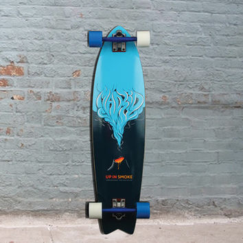 "Madrid Up In Smoke Fishtail 37"" Gun Longboard"