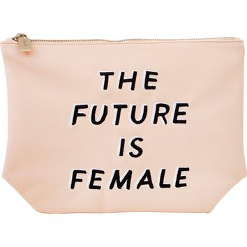 Sonix The Future is Female Faux Leather Everyday Pouch | Nordstrom