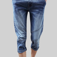 Denim Stretch Capri Jeans
