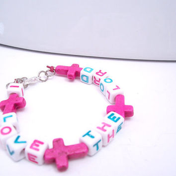 Girl's Christian Jewelry, Cross Bracelet, Children's Jewelry