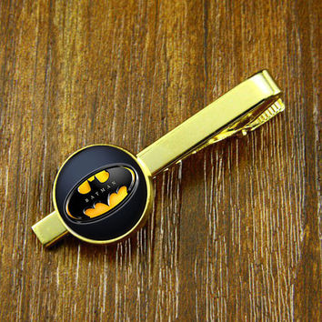 Tie Clips- Superhero  Clips,BATMAN    tie clips, Mens Tie Clip,Fathers Day Tie Clip,Wedding Tie Clips,DIY Tie clip,BOY Friend gift
