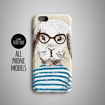Rabbit Marine iPhone 7 Case iPhone 7 Plus Case iPhone 8 Case iPhone 6 Case iPhone 8 Plus Case iPhone 6 Plus Case Hipster Animal Painting