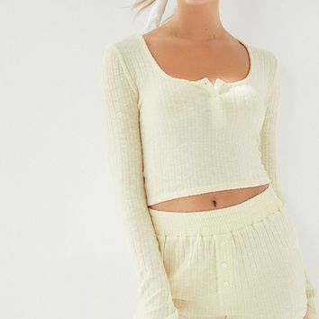 Out From Under Lexi Button-Front Short   Urban Outfitters