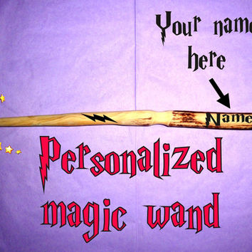 Wood Magic Wand With Your Name, Harry Potter Magic Wand, Wicca Wand, Fairy Wand, Natural Wood Wand, Wizard Wand, Enchanted Wand, Hermione