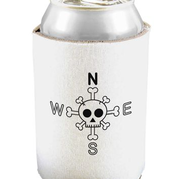 Compass Rose - Skull and Crossbones Can and Bottle Insulator Cooler
