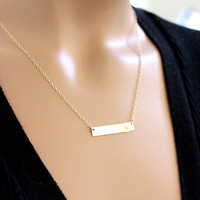 BIG SALE!! Gold Bar Necklace,Pesonalized Necklace,Personalized Jewelry, intial bar Nameplate, Bar Pendant,Statement,Christmas Holiday Gifts