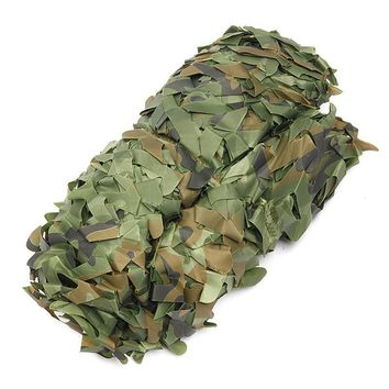 Hot 3m*3m Outdoor Hunting Military Camouflage Net Woodland Army Camo Netting Camping Sun Shelter Tent Shade Sun Shelte