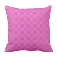 Retro faded pink circles pattern cushion