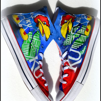 Painted GRADUATION Shoes, Custom Painted Unisex Converse, Unisex Hightops, Graduation Gift, University, College,  Team Shoes, Mens Fashion