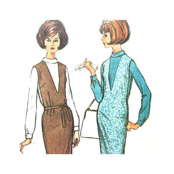 1960s Vintage Pattern McCalls 7232   Misses Jumper and Blouse Size 12 60s Pattern