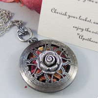 Scented Rose,Locket,Silver,Apothecary,Rose,Pink,Love,Antique Locket,Floral,Jewelry. Handmade jewelry by valleygirldesigns.